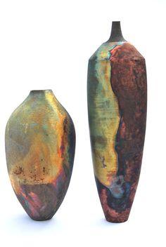 copper matte raku by Tim Betts at the Raku Garden