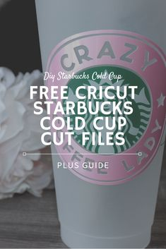 vynil ideas for shirts . vynil ideas for cups . Starbucks Logo, Starbucks Tumbler, Personalized Starbucks Cup, Custom Starbucks Cup, Starbucks Crafts, Cricut Fonts, Cricut Vinyl, Cricut Craft Room, Cricut Air