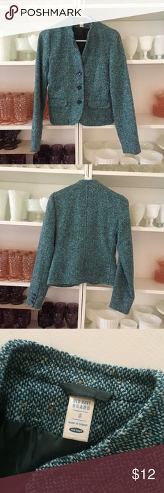 Old Navy Tailored Blazer Stylish and ready to be taken seriously!  Teal colored size small. Old Navy Jackets & Coats Blazers