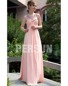 CHIFFON SCOOP BEADING RUCHING A-LINE PINK PROM / EVENING DRESS evening dress  evening dress evening dress evening dress evening dress evening dress evening dress