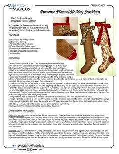 Provence Flannel Holiday Stockings by Vanessa Goertzen