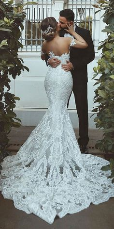 33 Mermaid Wedding Dresses For Wedding Party Wedding Dresses Guide is part of Wedding dress guide - Mermaid wedding dresses are quite popular among bride This kind of bridal dress has the function to draw attention to the bust, waist and hips Elegant Wedding Dress, Best Wedding Dresses, Designer Wedding Dresses, Bridal Dresses, Wedding Gowns, Party Wedding, Wedding Ideas, Modest Wedding, Wedding Decorations