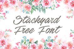 DLOLLEYS HELP: Stackyard Free Font