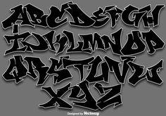 Graffiti Alphabet Styles, Graffiti Lettering Alphabet, Graffiti Writing, Tattoo Lettering Fonts, Graffiti Font, Graffiti Tagging, Graffiti Styles, Lettering Styles, Lettering Design