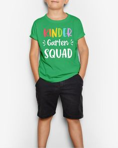 Kindergarten Squad Funny Back To School Teacher Student Gift - Kelly 1st day of school, back to school qoutes, going back to school #backtoschoolevent #backtoschool2021 #BackToSchoolEssentials, dried orange slices, yule decorations, scandinavian christmas Pride Shirts, Boys Shirts, Cool T Shirts, Squad, Dog Mom Shirt, Lesbian Pride, Mothers Day Shirts, Love Shirt, Mens Tees