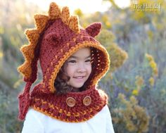 Looking for your next project? You're going to love Lucky Dragon Hood (Toddler/Child/Adult) by designer Marken.