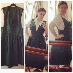 Fancy Dresscapades: Sewing a reproduction vintage pinafore or jumper