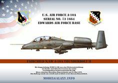 Die doppelsitzige N/AW A-10A war eine Weiterentwicklung als Nacht- und Allwetterversion des nicht verwirklichten Trainerentwurfs YA-10B. Diese einzelne Maschine flog erstmals am 04. Mai 1979. Ein Auftrag wurde nie erteilt und so blieb es bei diesem Einzelstück. Air Force, Trainer, Mai, Scale Models, Fighter Jets, Aircraft, World, Creative, Planes