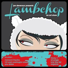 "My insanely talented sister, Nicole Marie McCord, will be featured at the art show, ""Lambchop"", this Saturday at the Monarch theater in Phoenix, AZ.  Intriguing art!  Fashion!  Music!  See amazing ""everything"" and get a chance to purchase her much sought-after mashups of Victorian/Baroque/Filigree where the elegant meets rock'n'roll."