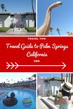 USA Travel Inspiration - California Dreaming in Palm Springs and that pink door which makes everyone go crazy on instagram! If you love retro architecture then you're going to fall in love with Palm Springs; there aren't a lot of things to do but it makes a relaxing stop on your California Road Trip...I've included some gluten free restaurant tips as well so you won't go hungry on your next vacation. I'm so glad to have ticked Palm Springs off my North America bucket list...c