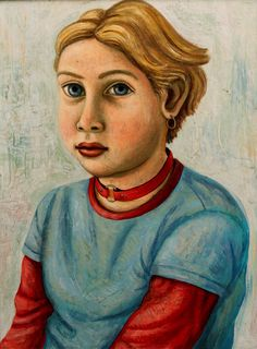 Portrait of a Girl with a Red Collar   -  Rick Beerhorst