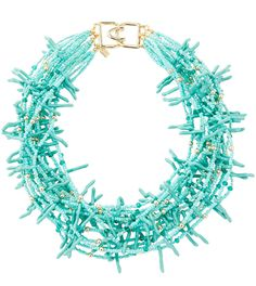 Kenneth Jay Lane Beaded Multi-Strand Collar Necklace