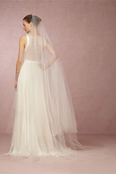 We're obsessing over this veil today!  Athena Cathedral Veil from @BHLDN