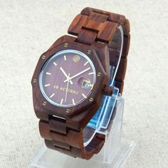 Swiss Movement Natural Octagon Dial White Maple Red Sandalwood Wooden Men Wood Watches  #watch #e #BEWELL #men #s £50.99 #organic #natural #ecofriendly #sustainaable #sustainthefuture