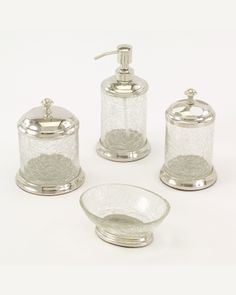 Crackle Glass Bathroom Accessories | Pier 1 Imports | Bath ...