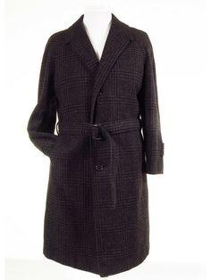 Belted raglan tweed overcoat coat mens M / 38R - 40R - Tweedmans Vintage