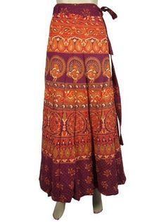 Designer Cotton Wrap Around Skirt Boho Gypsy Purple Orange Sarang Floral Print Warp Skirts Mogul Interior, http://www.amazon.com/dp/B009SJ7QUG/ref=cm_sw_r_pi_dp_AZbHqb157NBXB
