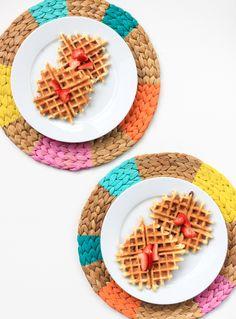 DIY Pinwheel Placemats #marthastewartcrafts