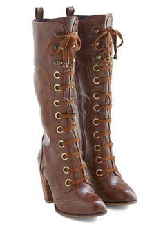Prospectress Boot. Eureka - you've found it! #tan #modcloth