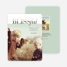 Blissful Holiday Cards from Paper Culture