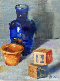 Blocked In by Alice Hauser Oil ~ 8 x 6