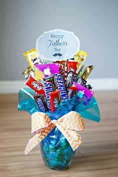 How to Make a Father's Day Candy Bar Bouquet