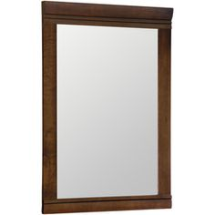 Style Selections Windell 29.5-in H x 20.5-in W Java Rectangular Bathroom Mirror