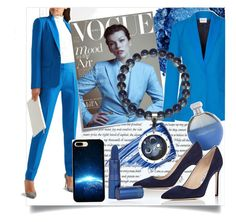 """""""Dream work"""" by ledile ❤ liked on Polyvore featuring Urban Decay, By Terry, PALLAS, Post-It, Catherine Malandrino, Manolo Blahnik, Lipstick Queen, charms, ledile and charmsbracelets"""
