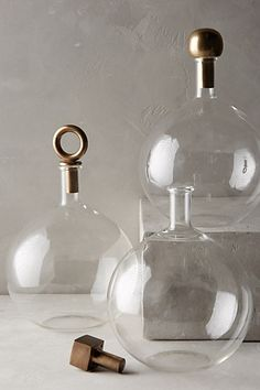 Brass-Capped Decanter - anthropologie.com
