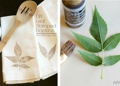 DIY Napkins, Personalizar servilletas.