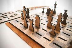 A Smart & Beautiful Chess Set That Packs Flat