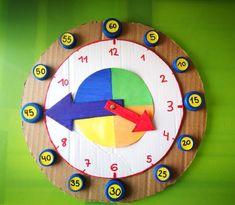 Reloj para aprender las Horas   Los Inventos de Mamá