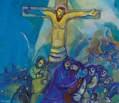 Marc Chagall (1887-1985)  Le Christ en jaune  signed 'Chagall' (lower left)  gouache on paper  11 1/8 x 12 7/8 in. (28.3 x 32.7 cm.)  Painted in 1941 Estimate $70,000 - $100,000