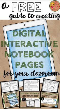 A Guide to Getting Started with Digital Interactive Notebooks Free Guide to creating Digital Interactive Notebook Pages! Learning Resources, Teaching Tools, Teacher Resources, Teaching Ideas, Interactive Learning, Teacher Tips, Teaching Technology, Educational Technology, Technology Integration