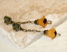 Lucite earrings Flower dangle earrings by CharmingLifeJewelry, $15.00