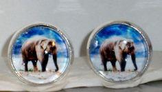 Ohrstecker Elefant Ohrringe Damen Ohrschmuck Modeschmuck Metalllegierung Glas