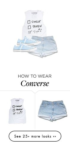 """""""we're gonna hail a cab and don't look back"""" by fatunicorn1 on Polyvore featuring moda y Converse"""