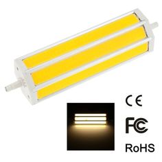 R7S 15W 118mm 1300-1400LM AC85-265V COB LED Bulb Light Corn Lamp Floodlight Dimmable 270 degree Illumination High Brightness White