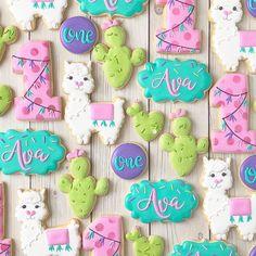 Fancy Cookies, Valentine Cookies, Iced Cookies, Birthday Cookies, Custom Cookies, Sugar Cookies, Llama Birthday, Baby First Birthday, First Birthday Parties