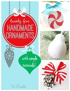 Handmade Ornament Tutorials by Favorite Bloggers
