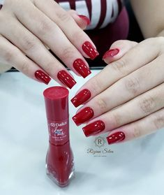 Pedicure ideas red polish manicures Ideas for 2019 Red Manicure, Red Nails, Manicure And Pedicure, Hair And Nails, Pedicure Ideas, Pretty Nail Colors, Pretty Nails, Nail Paint Shades, Square Oval Nails