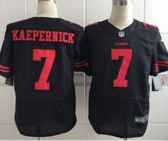 Nike  49ers  7 Colin  Kaepernick Black Alternate Men s Stitched NFL Elite Jersey  Black f3db6b7b5