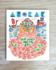 The Vikings & Pirates Issue - ANORAK (cover by Rob Hodgson) #illustration #drawing #watercolor