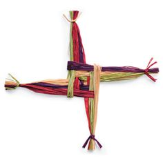 St. Brigid's Cross - craft to make with kids to honor one of Ireland's Patron Saints.