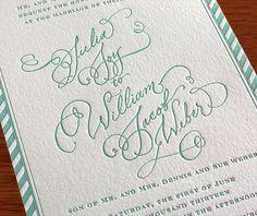 Minty green invitation