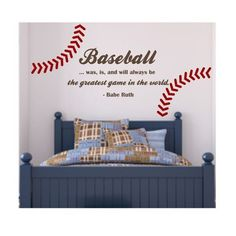 Do you consider baseball fan?Do you enjoy nothing more than going to parks to watch the game? This article will show you learn everything about baseball. Baseball Crafts, Baseball Quotes, Baseball Boys, Softball, Baseball Wall, Baseball Stuff, Baseball Games, Boys Baseball Bedroom, Baseball Numbers