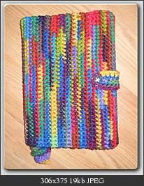 Button Up Book Cover with Bookmark free crochet pattern