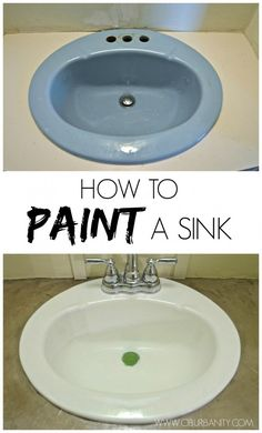 DIY projects Did you know that for $35 you could update your dated sink by giving it a coat of paint?! Learn how!