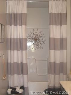 Double Shower Curtain. Extra Long ...