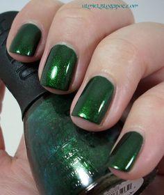 Did someone say nail polish?: Nubar - Greener and my deep green shimmers